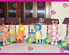 Backyardigans Centro de Mesa em EVA 3D