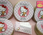 Latinhas Convite Hello kitty!