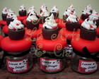 Vidrinhos de cupcake flamengo