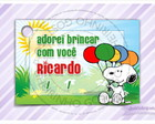 Cart�o - Tag Anivers�rio Snoopy