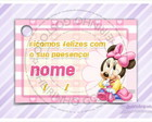 Cart�o - Tag Maternidade Baby Minnie