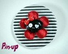 BOTTON MINI SKULL FLOWER - 5,5CM