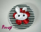 BOTTON BUNNY WHITE  - 5,5CM