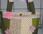 Bolsa Pachwork verde/beje