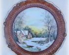 Prato pintado - porcelana