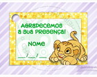 Tag para Imprimir - Simba