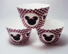 Wrappers para cupcake Tema Minnie