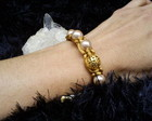 Pulseira Shambala com folheados em ouro