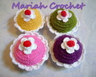 Chaveiros cupcake em croche