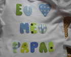 Body ou camiseta Eu amo meu papai