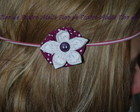 head band flores de fuxico VENDIDA