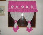 cortina pink com branco
