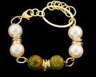 PULSEIRA COM PEDRA NATURAL UNAKITE