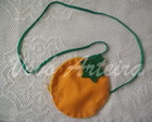 Bolsa ou Porta Niqueis de Laranja