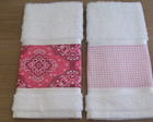 KIT TOALHA LAVABO BANDANA ROSA