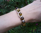 PULSEIRA SHAMBALA OLHO DE TIGRE