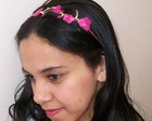 Headband Bordado Floral