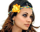 Headband block color amarelo