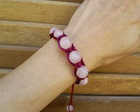PULSEIRA SHAMBALA QUARTZO ROSA FACETADO