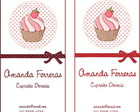 CALLING CARD - CUPCAKE