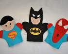 Fantoches - Super Man, Batman, H. Aranha
