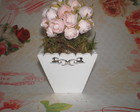 Cachep de flores shabby