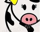 adesivo geladeira vaca/frete grátis