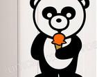 adesivo geladeira urso/frete grátis