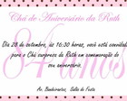 Convite personalizado com envelope