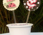 Toppers para cupcake Joaninha