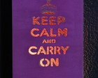 Lumin�ria Keep Calm and Carry on