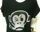 Blusa com macaco em strass