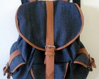 Mochila jeans 3 bolsos