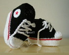 All Star baby Croche preto/vermelho