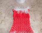 Vestido e gorro natal para Pets tam.PP