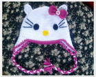 Touca de croch� Hello Kitty
