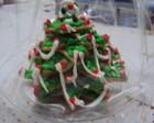 Arvores de Natal feita com bolachas