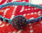 Shamballa Roxa e Turquesa