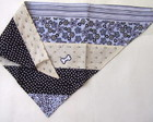 Bandana patchwork dupla face preta