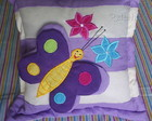Capa Almofada Borboleta Lilas - 01 Pea