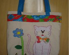 Bolsa em lona - Gatinho tmido