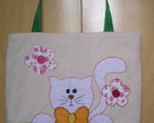 Bolsa em lona - Gatinho sapeca