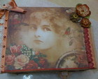 CAIXA VINTAGE,SCRAP DECOR