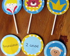 Tags para cupcakes Pequeno Prncipe
