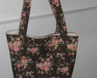 Bolsa Marrom com Flores