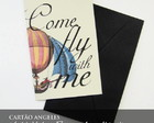 Cart�o Vintage Press - Come Fly With Me