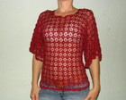 Blusa em Croch - Vinho