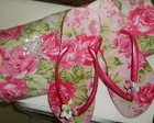 Slim pink floral + Bolsa toalha