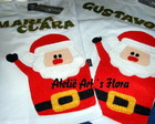 Camiseta Patchwork Papai Noel
