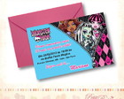 Convite Turma Monster High - Grande